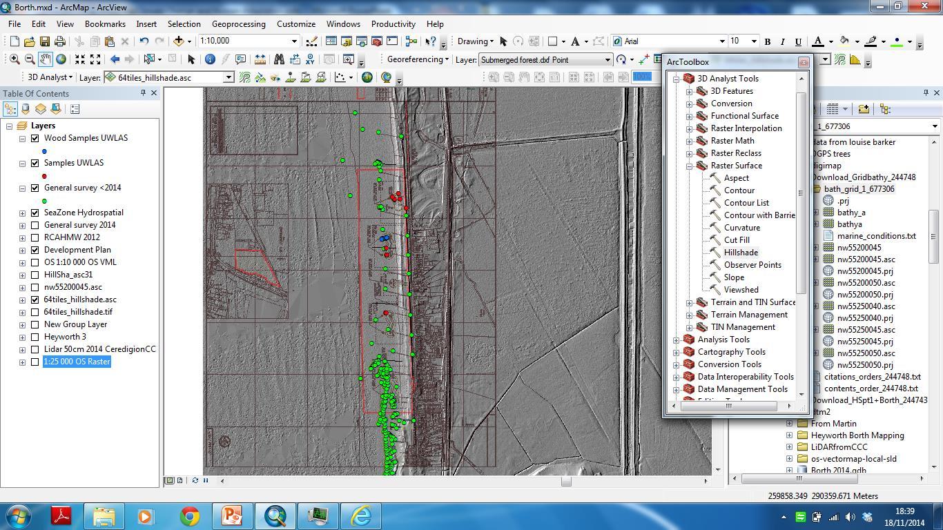 Borth project GIS