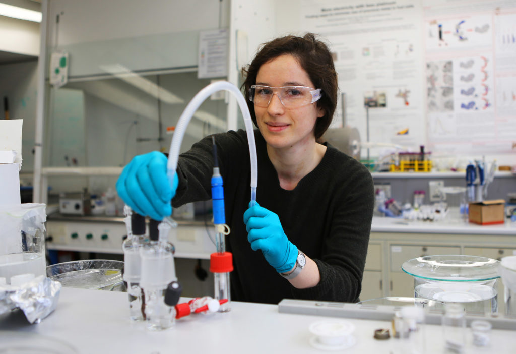Bethan Davies in a lab