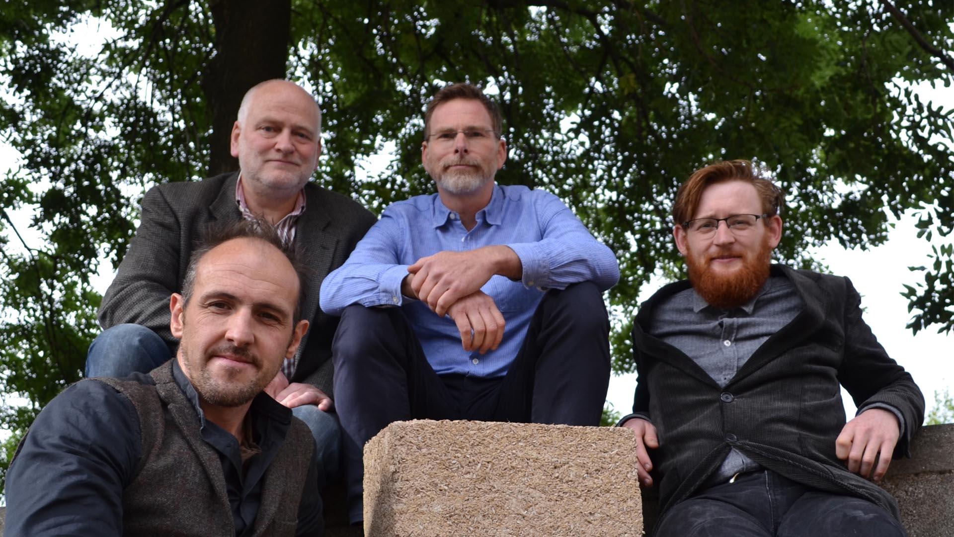 The Industrial Nature team, l-r: Sam Baumber, Ewan Mealyou, Scott Simpson, Euan Lochhead