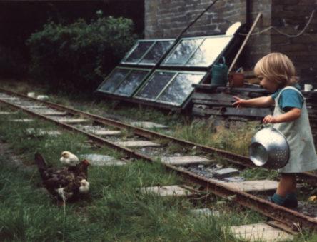 Quarry railway tracks for transporting slate