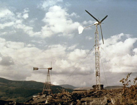 Early wind turbines at CAT
