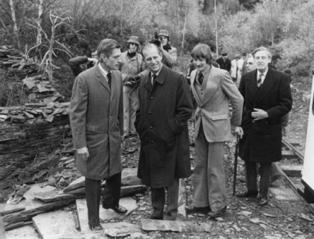 Prince Phillip visiting CAT in 1974
