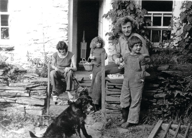 Family living at CAT in the old cottages