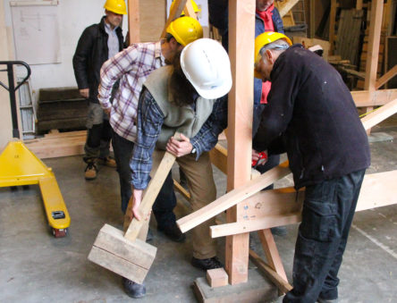 making a timber frame building
