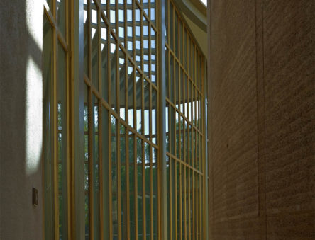 rammed earth lecture theatre