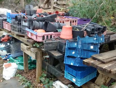 plastic waste from gardening