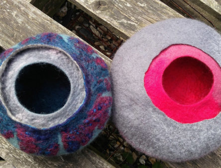 two felt bowls