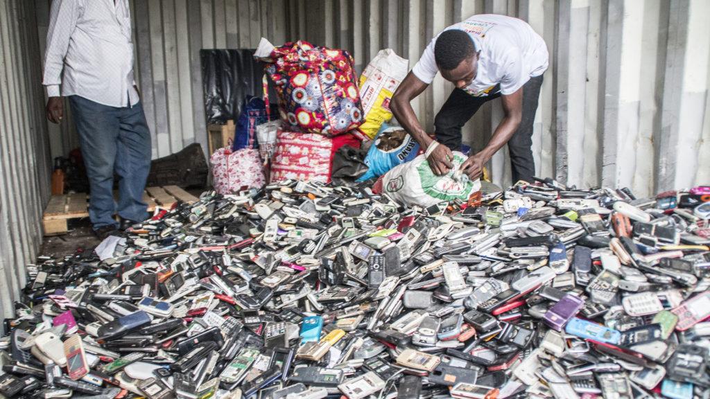 collecting scrap phones in Ghana