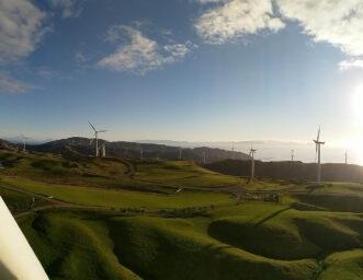 Working on a wind farm
